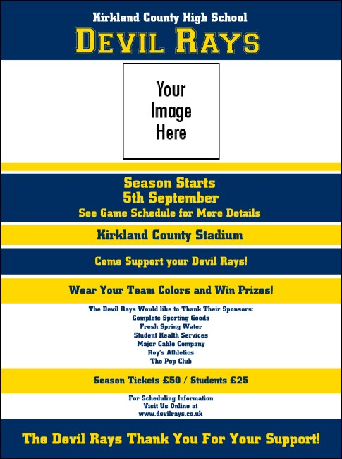Sports Flyer 001 in Blue and Yellow