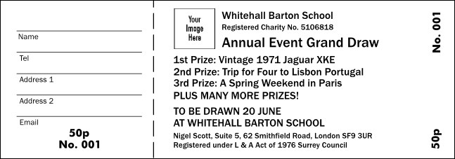 BW Logo Raffle Ticket UK001