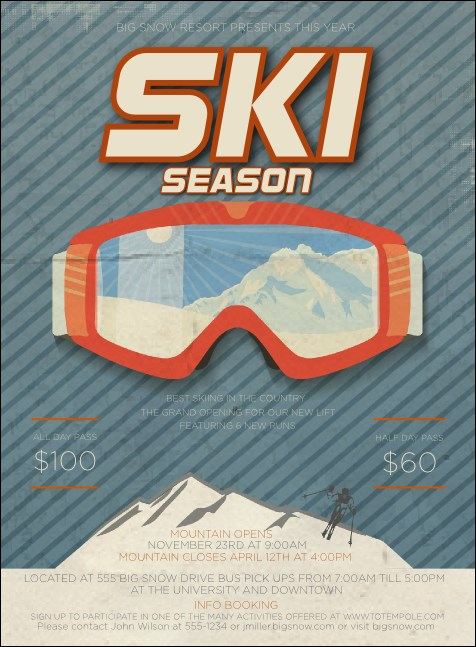 Ski Goggles Invitation