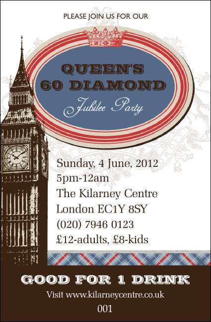 Queen's Diamond Jubilee Drink Ticket 01