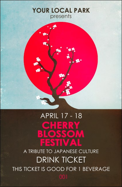 Cherry Blossom Drink Ticket