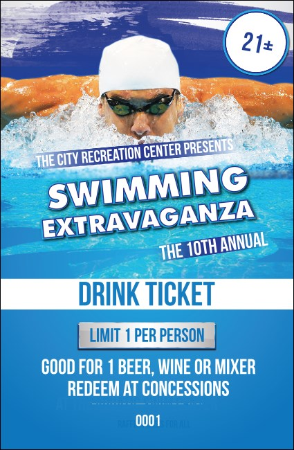Swimming Drink Ticket