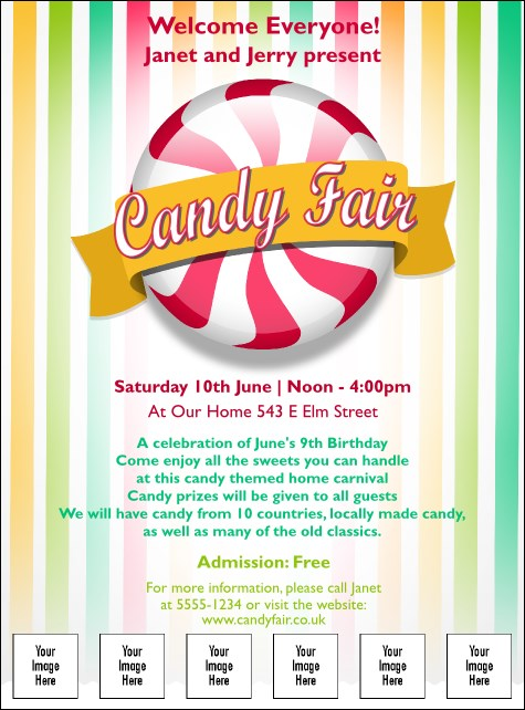 Candy Logo Flyer