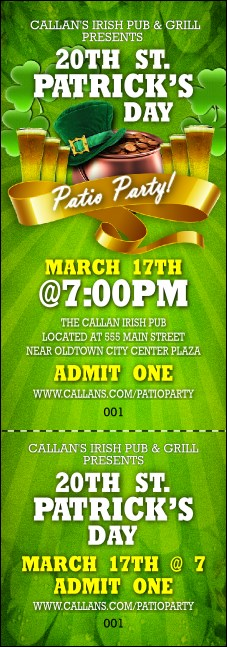 St. Patrick's Day Party Event Ticket