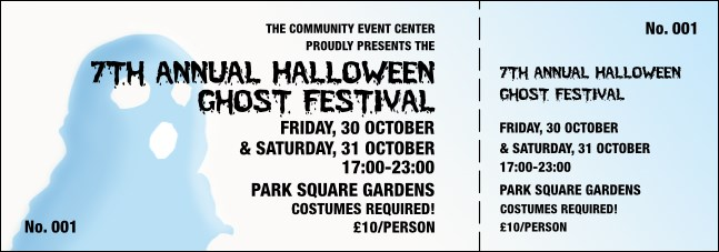 Halloween Ghost General Admission Ticket