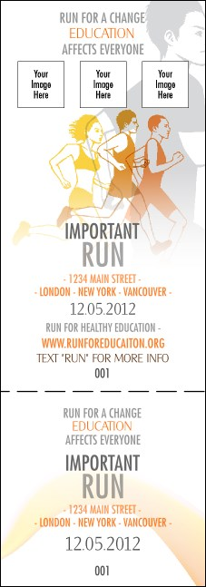 Run for a Cause Orange Event Ticket